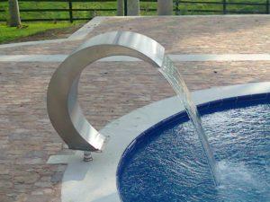 cascada para piscina acero inoxidable