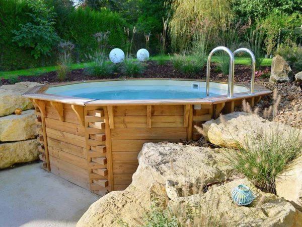 piscina de madera integrada