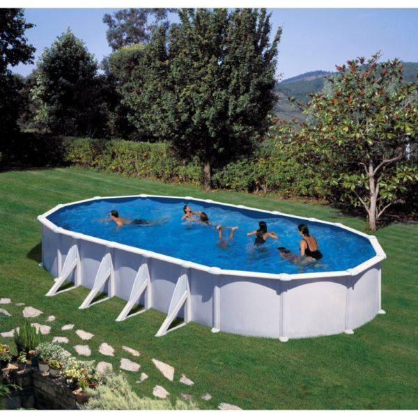 piscina semienterrada de acero