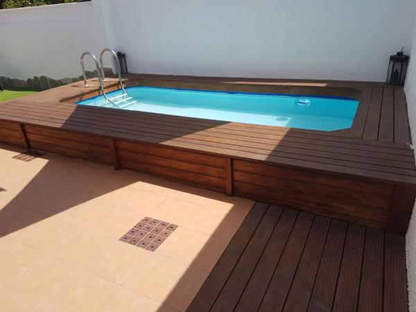 piscinas semienterradas de madera